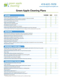 Green Apple Cleaning Plans