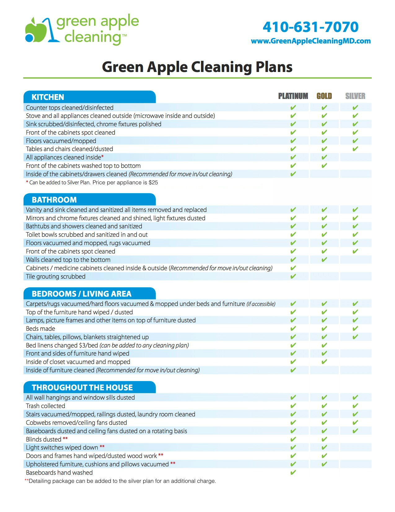 green apple house cleaning services in maryland