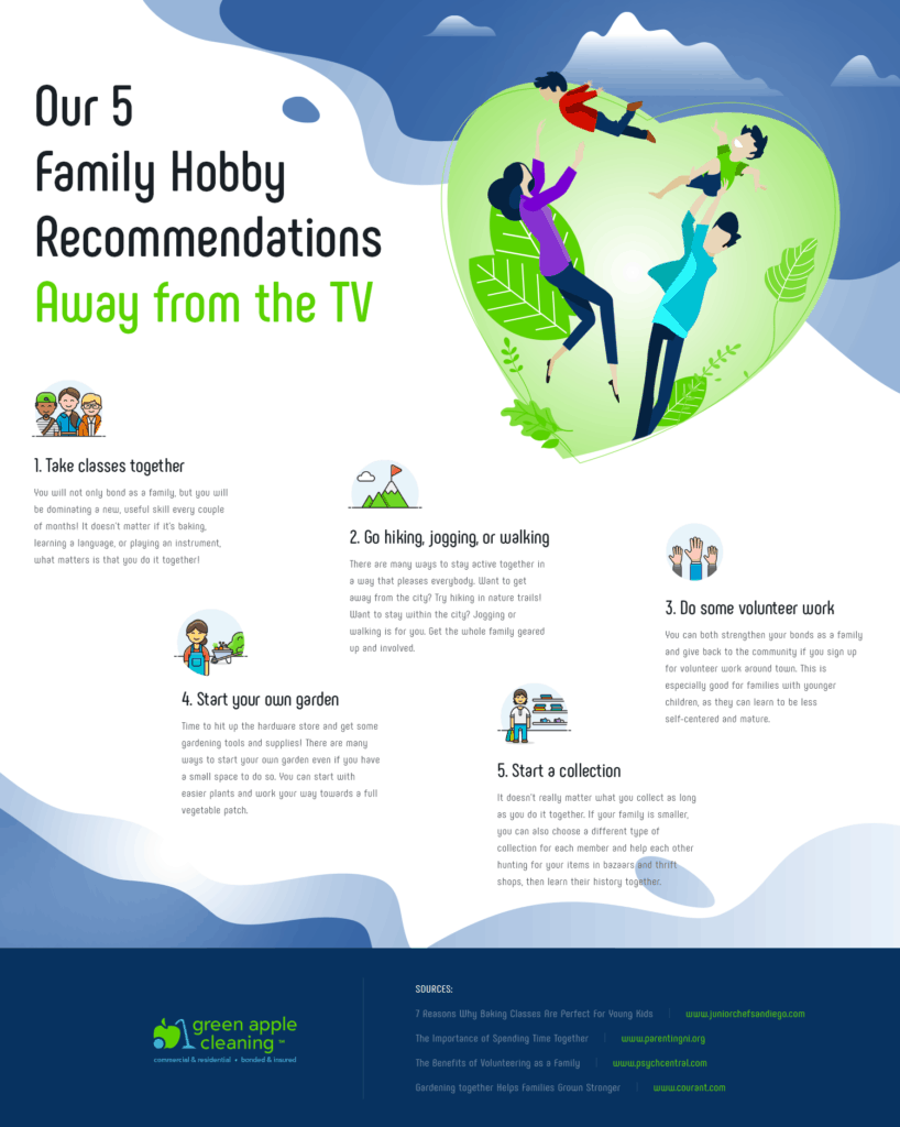 Our 5 Family Hobby Recommendations Away from the TV - Green Apple Cleaning