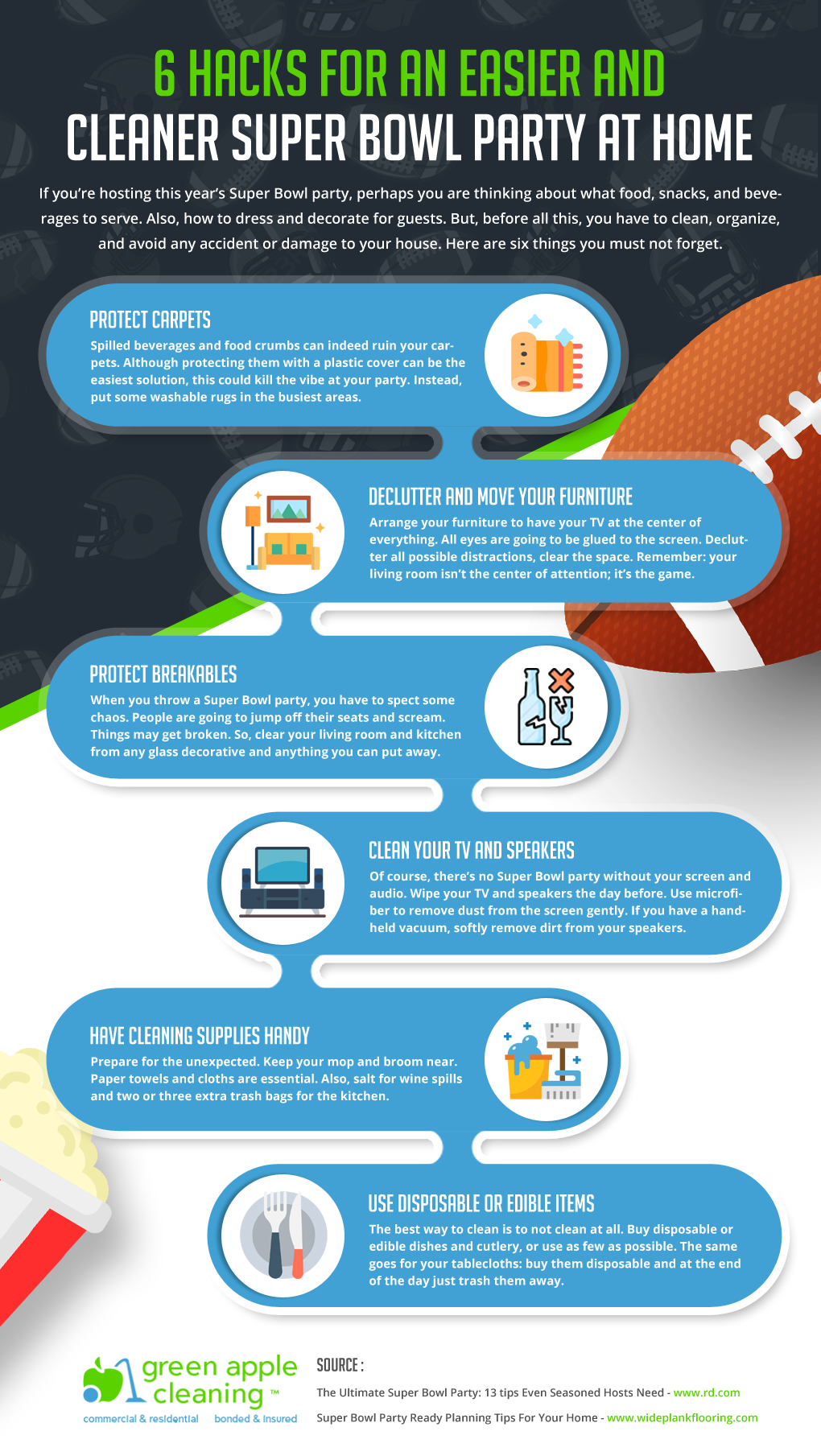 6 Hacks For An Easier And Cleaner Super Bowl Party At Home