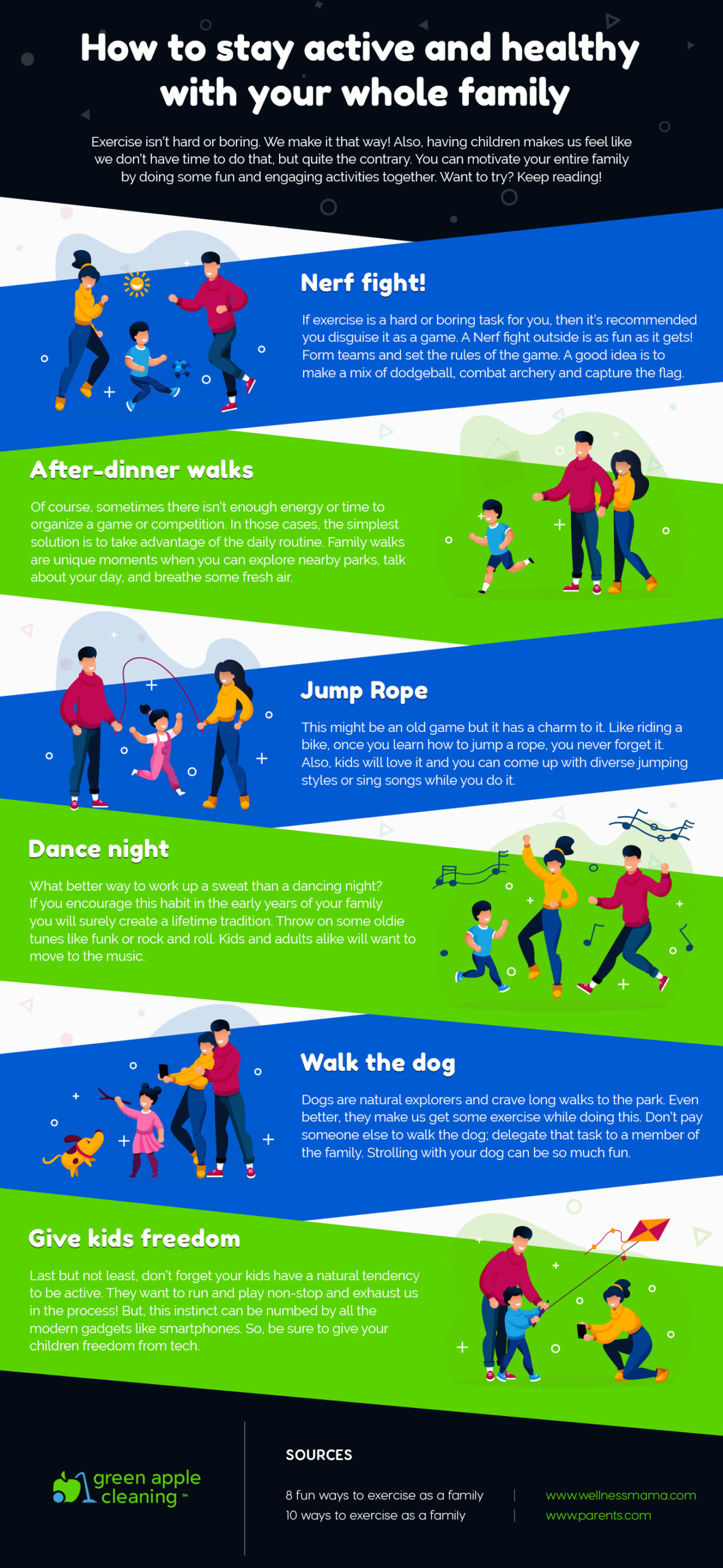 Green Apple Cleaning - How to stay active and healthy with your whole family